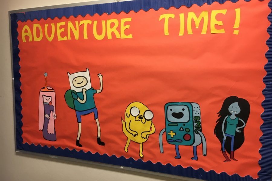 Adventure time bulletin board