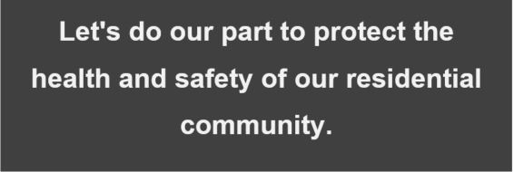 Halloween email screen capture: Let's do our part to protect the health and safety of our residential community.