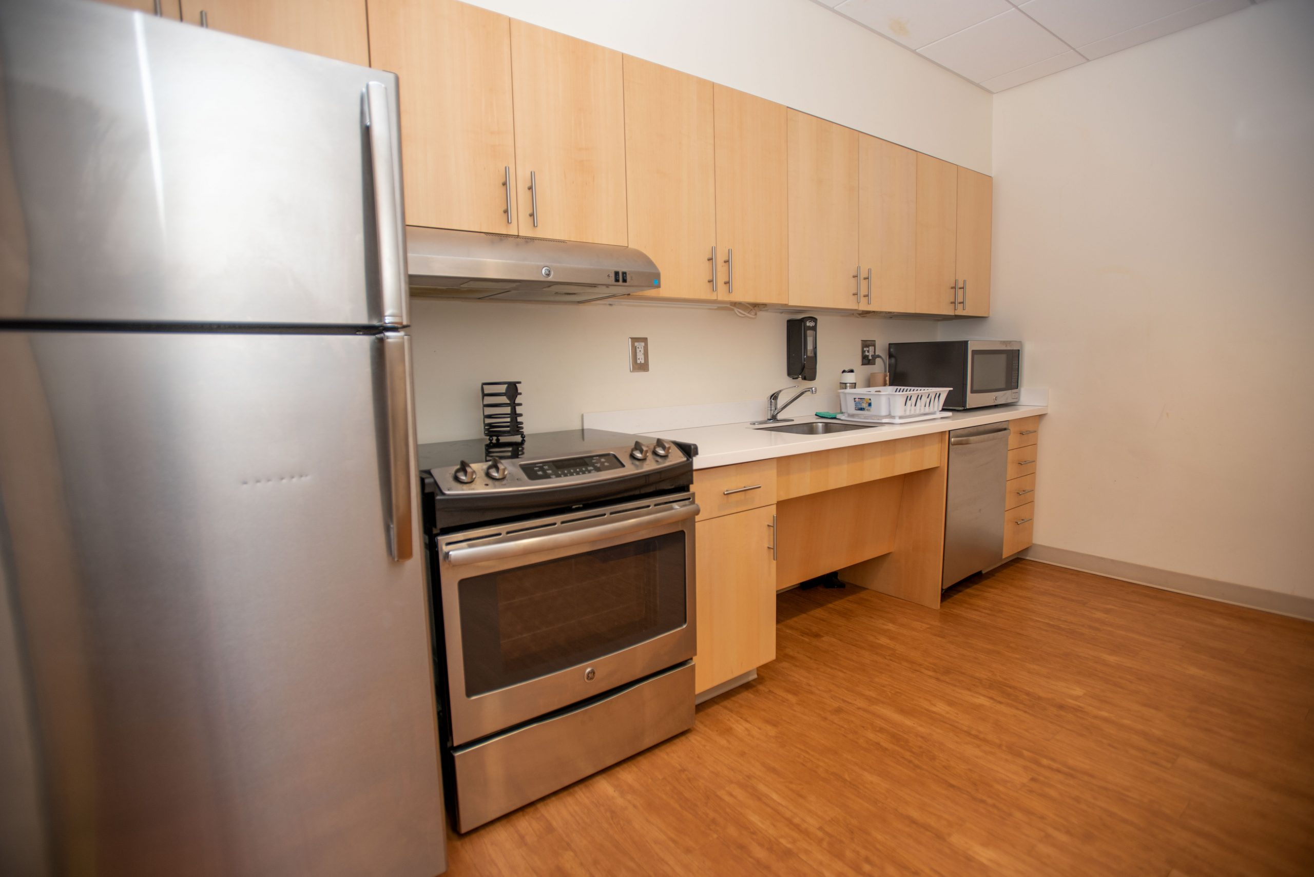 Werth residence hall kitchen area